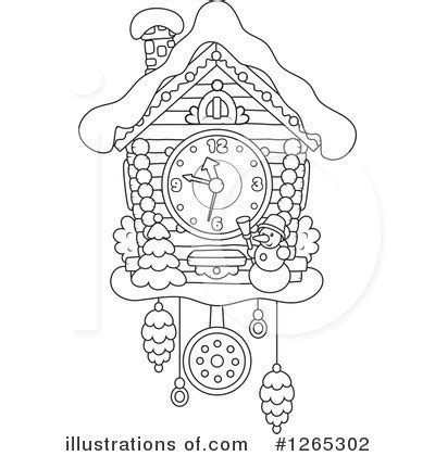 cuckoo clock clipart 1265302 illustration by alex bannykh