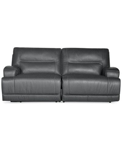 Leather Motion Sectional Sofa Caruso Leather 2 Power Motion Sectional Sofa Furniture Macy S
