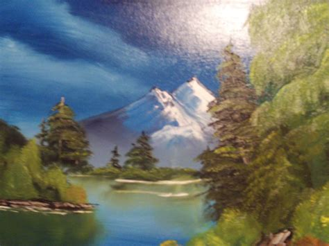 bob ross painting emerald waters bob ross style mountain summit by trxpert on deviantart