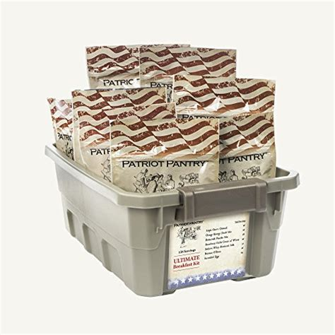 25 Year Shelf Food Storage by Ultimate Breakfast Kit 138 Servings Of Food For Term Emergency Storage Up To 25 Year