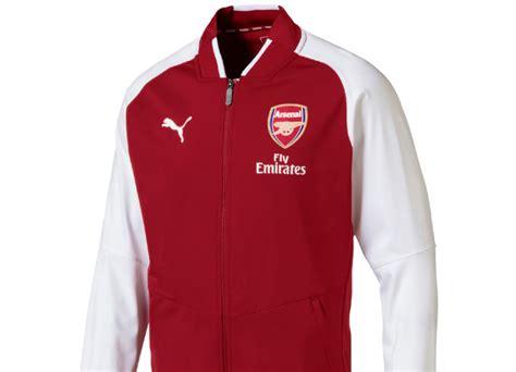 Jaket Silver Arsenal arsenal fc stadium jacket dahlia white