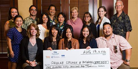 Uh Manoa Mba Distance Learning by Shidler College Of Business Receives Funding From Saltchuk