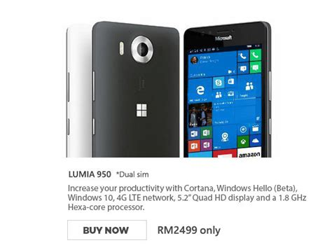 microsoft lumia 950 950 xl with best price at lazada