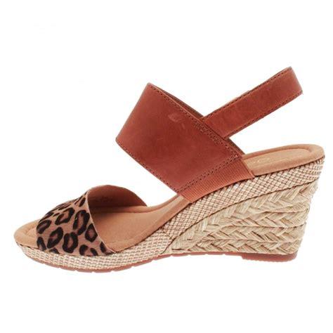 leopard print wedge sandals s leopard print wedge sandal by gabor at walk