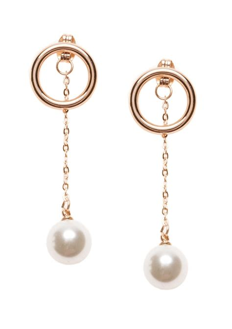 faux pearl drop earrings happiness boutique