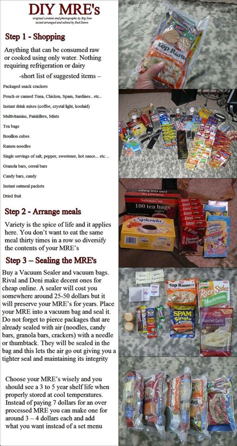 Shelf Of Mre Meals by Diy Survival Make Mre S Meal Ready To Eat At Home