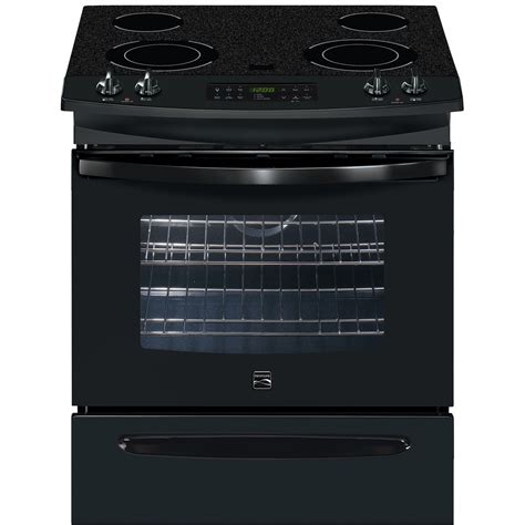 Cooktop Electric Range kenmore 46789 30 quot self clean slide in electric range w ceramic smoothtop cooktop sears outlet