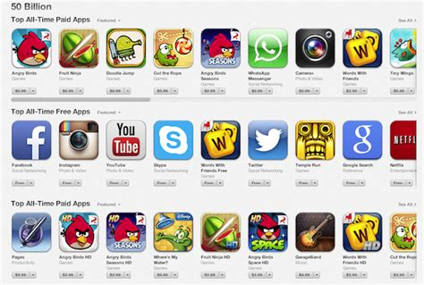 apple apps apple posts top 25 all time free and paid apps list