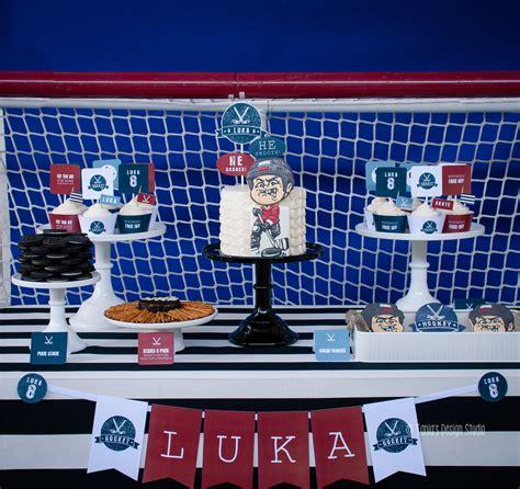 themes for hockey games ice hockey party ideas tania s design studio