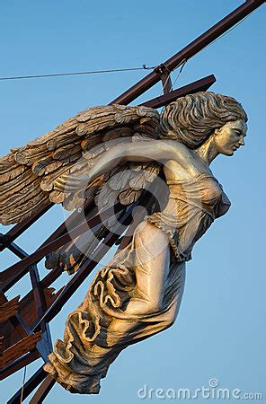 bow of a boat in spanish ship s figurehead stock photo image 51546408