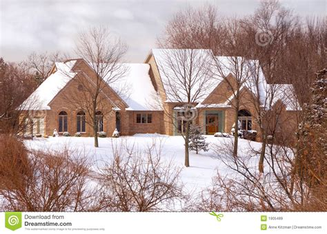 Two Story Country House Plans beautiful brick home in the country in winter royalty free