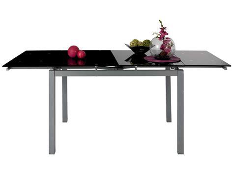 table de cuisine noir table rectangulaire avec allonge 200 cm max 3