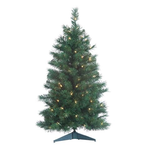 best prelit 3ft christmas trees reviews sterling 3 ft pre lit colorado spruce with 100 clear lights and 21 in base 1484 30c the