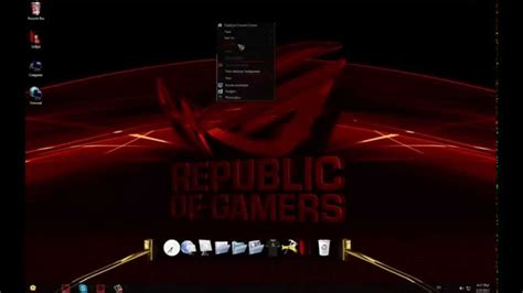 download themes windows 7 rog asus rog custom windows 7 theme youtube