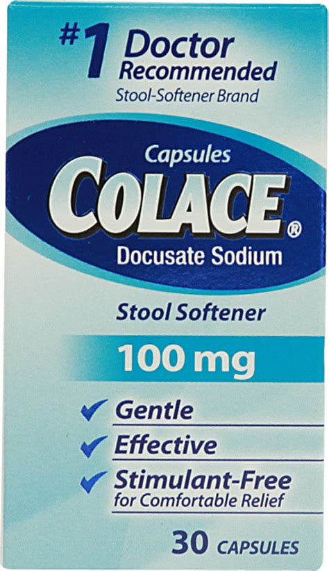 What Is In Colace Stool Softener by Colace Stool Softener Laxative 367618101308