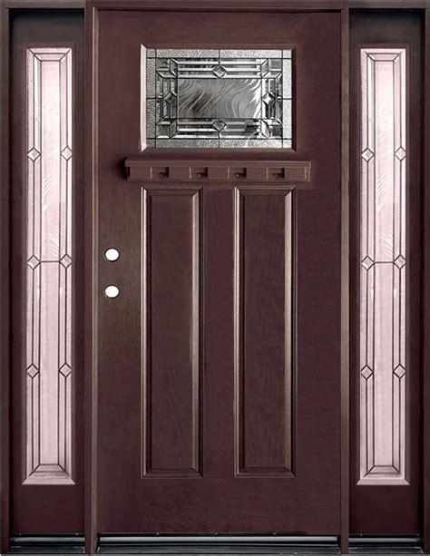 Exterior Door Finish Epoch Fiberglass Doors Exterior Doors Pre Finish Fiberglass Entry Unit Walnut Right