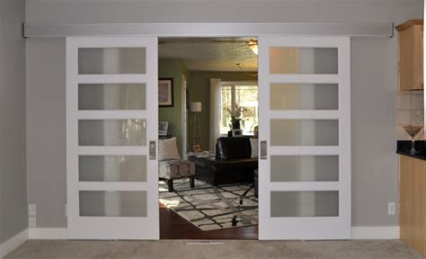 Johnson Barn Door Hardware Johnson Hardware 200wm Separating Two Living Rooms Interior Barn Door Contemporary Other