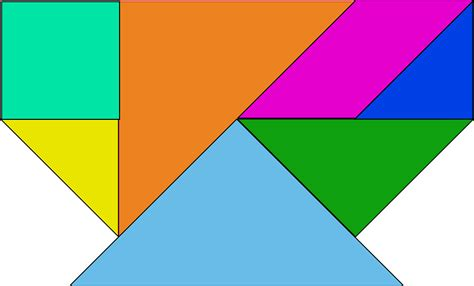colored shapes free vector graphic shapes colored tangram puzzle