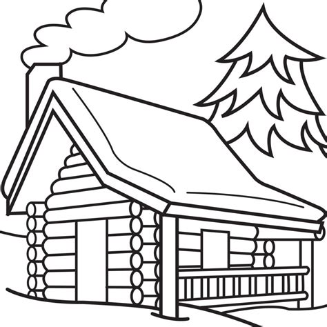 Log Cabin Coloring Page log cabin coloring page clipart best