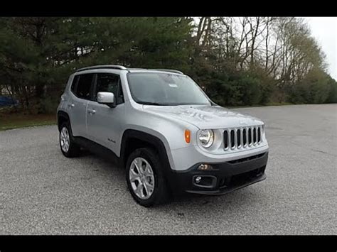 jeep renegade silver 2016 jeep renegade limited 4x4 silver new jeep dealer