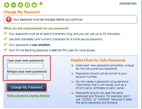 reset my online banking password reset online banking password