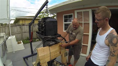 motor boat easy how to easy outboard motor removal youtube