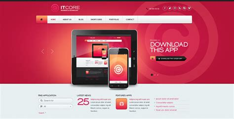 themeforest templates itcore site template by flashmaniac themeforest