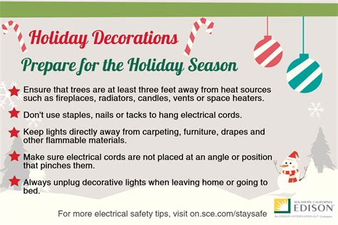 holiday decorating safety tips inside edison