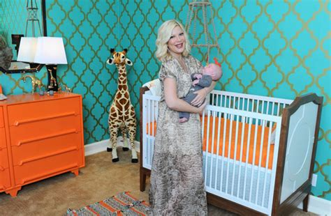 tori spelling home decor tori spelling reveals finn s vintage giraffe themed nursery