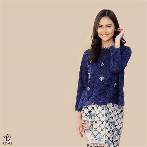 Blouse Top Astrid Maroon Navy Batik 57 best images about lace top kebaya on