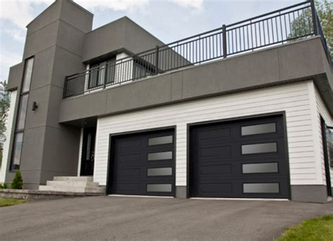 white ranch house with black garage door contemporary black garage doors with glass also white