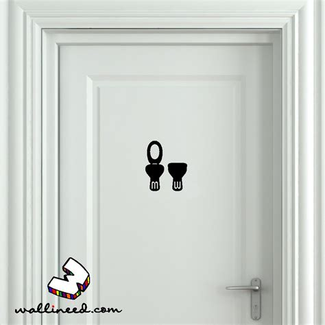 bathroom door stickers toilet seat up and down bathroom door sticker