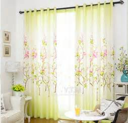 decorative curtains for living room decorative floral curtains in bright bud green color for