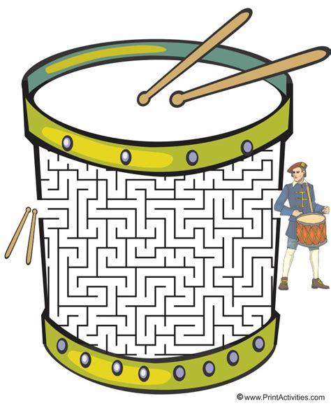 printable music maze drum shaped maze from printactivities com noah