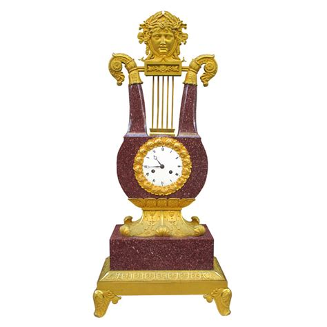 karl kemp antiques an important charles x imperial porphyry lyre clock karl