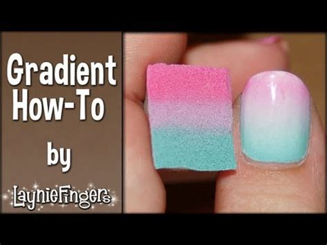 easy nail art with sponge layniefingers tutorial how to do gradient nails with a