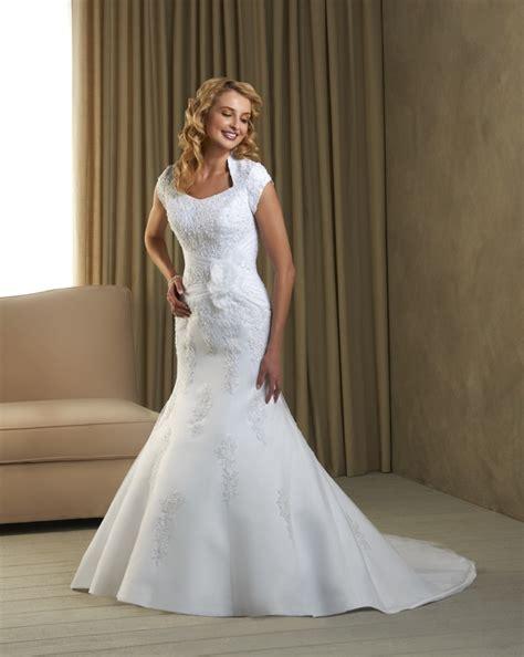 modest mermaid wedding dresses choosing the modest wedding gown lds net mormon