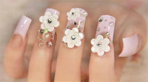 imagenes de uñas de acrilico en 3d como hacer u 241 as con flores 3d paso a paso