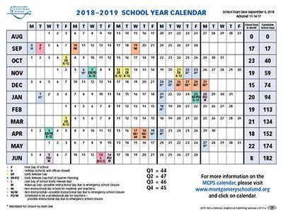 proposed calendar 2018 19 montgomery county public