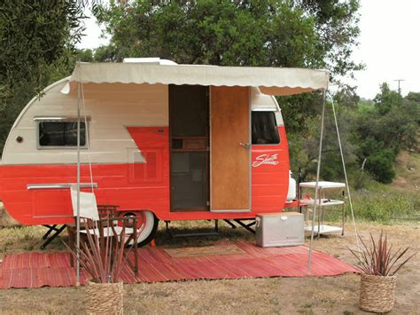 rv awnings mart woman sews stylish cer awnings that only look vintage