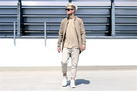 7 Stylish Neutral Clothes by Combining Neutral Colors Bomber Parka Chinos