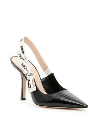 Jadior Heels And Flat j adior leather slingback black shoes and christian