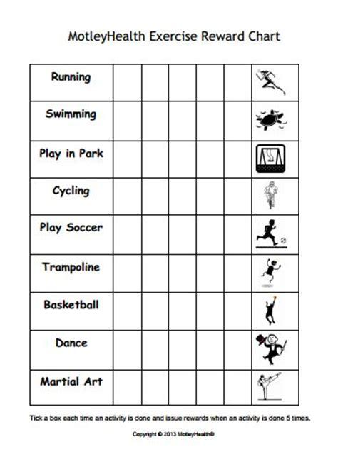 kids exercise reward chart motivate kids   active