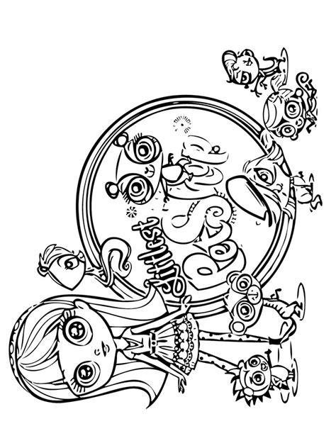 coloring pages vip pets littlest pet shop coloring pages download and print