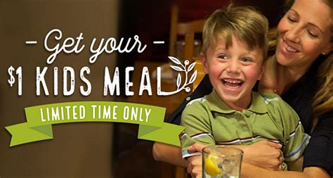 olive garden 1 kid july 2017 meals only 1 00 at olive garden with purchase coupon