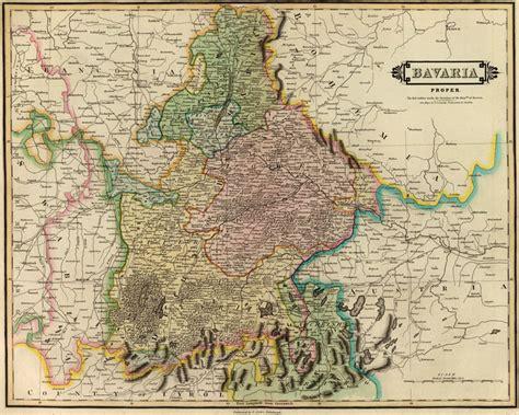 Bayern Germany Birth Records Bavaria Germany 1831 Historic Map Reprint By Lizars