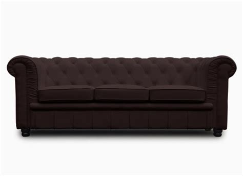 Canapé Chesterfield Convertible 140 by Chesterfield Convertible 3 Places Marron