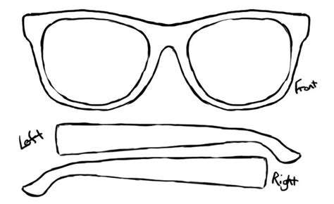 glasses template items similar to customized personal sunglasses 3 up