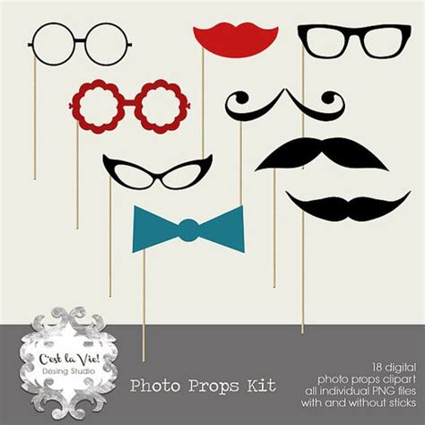 printable photo booth props nye pinterest the world s catalog of ideas