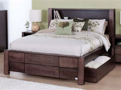 king size storage bed frame solid wood modern storage bed design